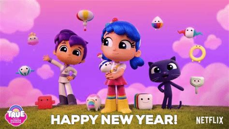 happy new year gif happy new year netflix gif by true and the rainbow kingdom