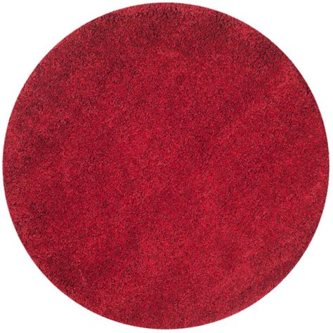 Safavieh California Shag Red 4 Ft X 4 Ft Round Area Rug 4 Foot Area Rugs