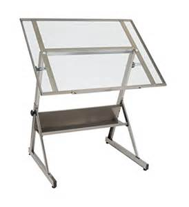 Drafting Table Height Studio Designs 13345 Solano Adjustable Height Drafting Table Steel Clear Glass Best