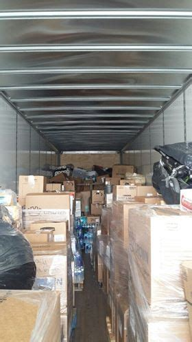 food pantry houston tx tractor trailer from clarion headed to food bank in
