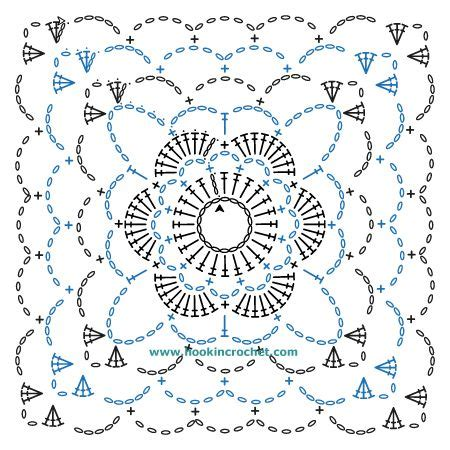 square pattern font square motif design crochet chart pattern created using