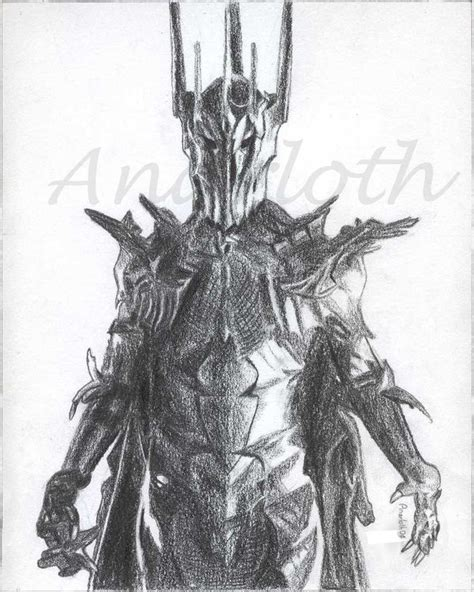 sauron by anarloth on deviantart