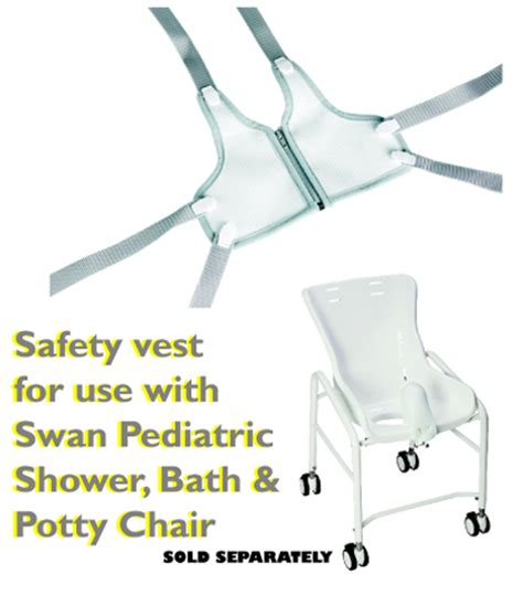 Swan Shower Chair by Snug Seat Swan Safety Vest