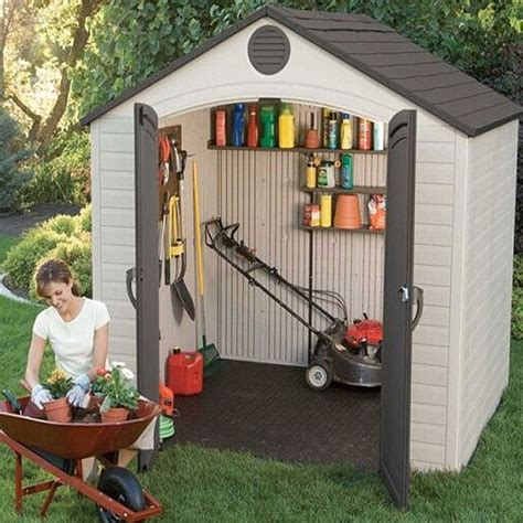 lifetime plastic shed    elbec garden buildings