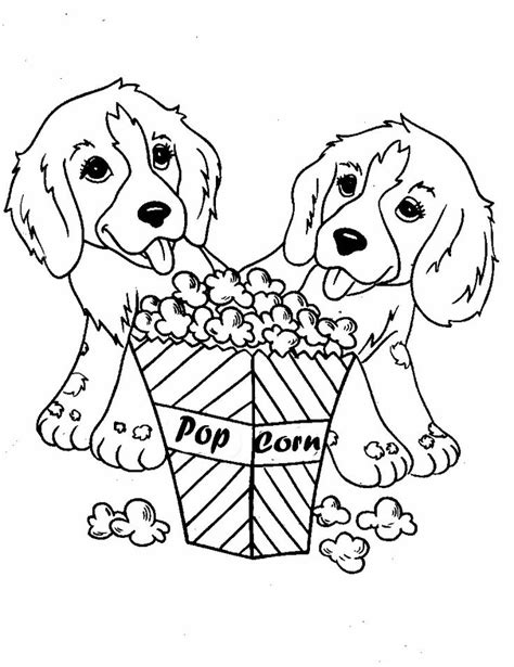 coloring pages of two dogs two dog eat popcorn coloring pages for the boys pinterest
