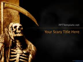 free dark halloween ppt template