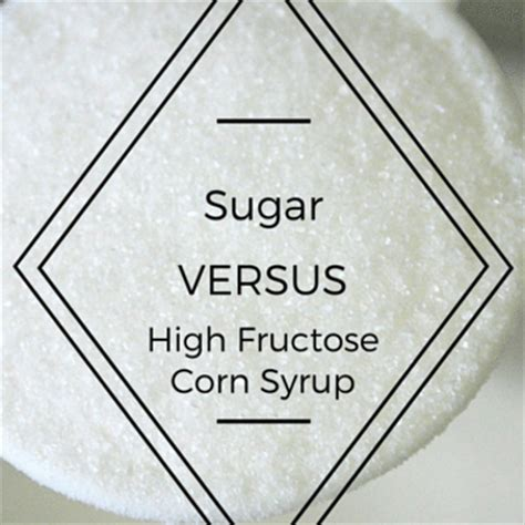 High Fructose Corn Syrup Detox Diet by Sugar Vs High Fructose Corn Syrup Dr Oz