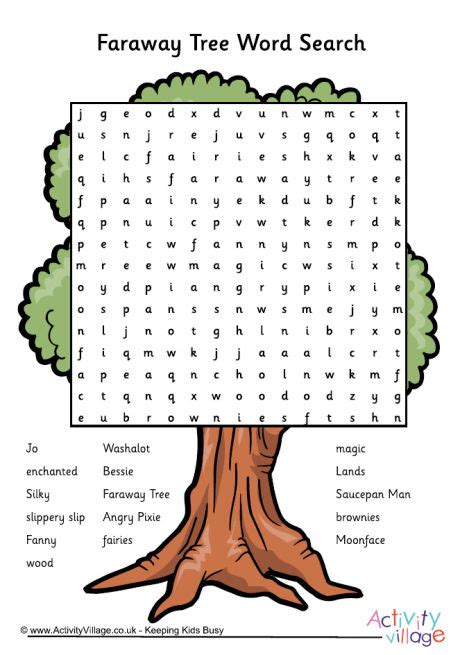 Search Tree Faraway Tree Word Search