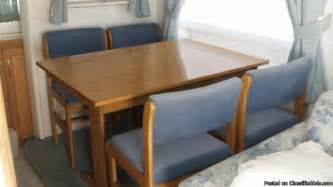 Rv Dining Table And Chairs Rv Furniture Dinette Set Oak Dining Table And 4 Chairs Like New Price 250 00 Obo In