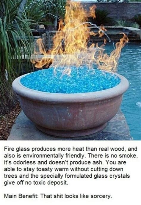 Glass Fire Pit Backyard Makeover Pinterest Glass For Pit