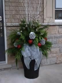 christmas planter christmas decor pinterest