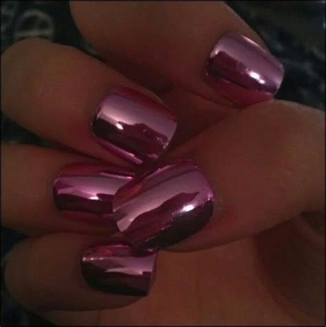 Chrome Nails | pink chrome nails nails pinterest