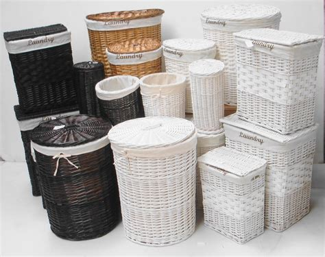 White rattan baskets modern house design rattan baskets storage design