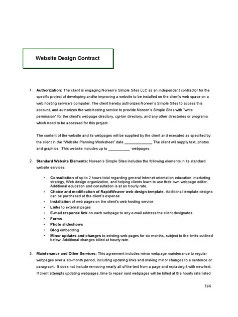 simple contract for design services contract quality