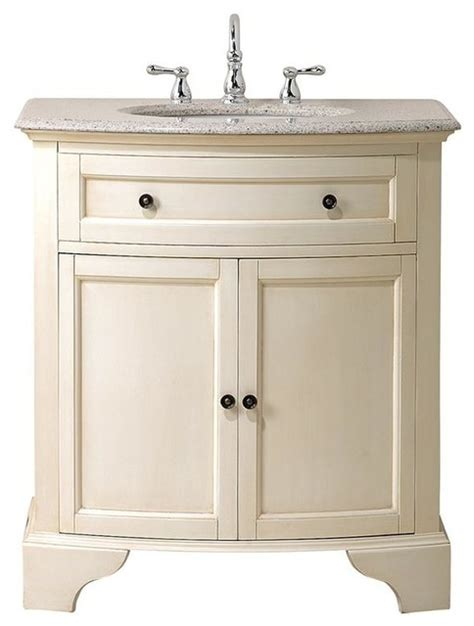 Distressed Bathroom Vanity Cabinets Hamilton Vanity 35 Quot Hx31 Quot W Distressed White Traditional Bathroom Vanities And Sink
