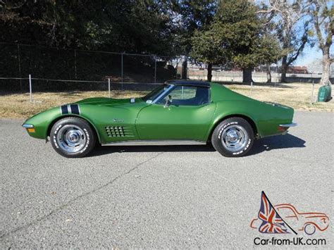 corvette stingray green great driving elkhart green 1972 chevrolet corvette stingray