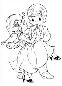 couple dancing precious moments coloring child coloring