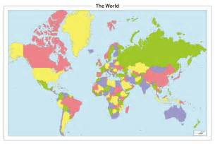 Color World Map by World Map Outline Countries Color Images