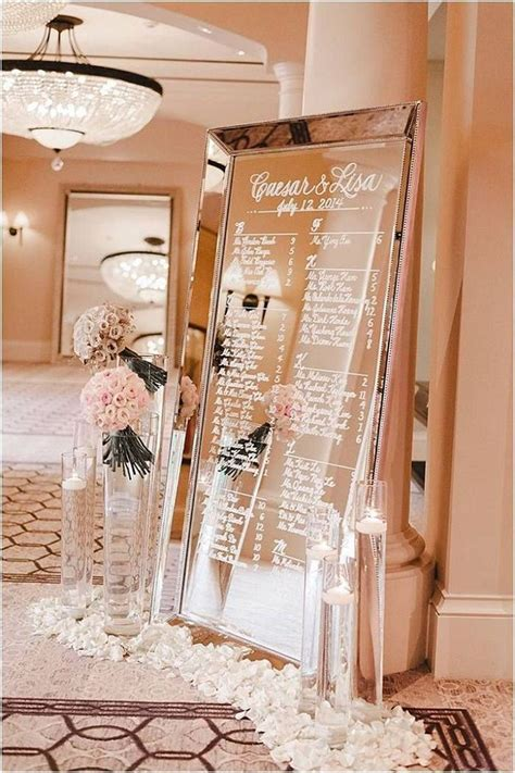 Fabulous mirror wedding table plans   Picture Frame