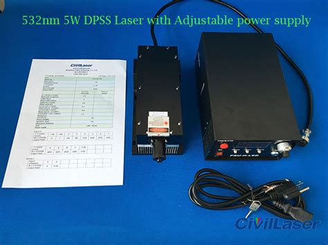 5w green laser diode 532nm 4w 5w 10w high power green dpss with ttl modulation and power supply 3 339 00 laser