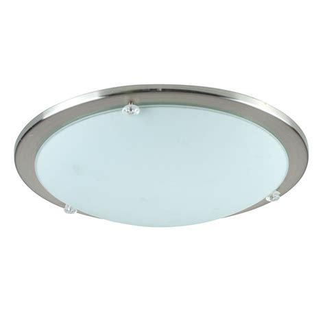 Chrome Ceiling Light Fittings Modern Chrome Glass Flush Dome Bathroom Ceiling Light Fittings Lights Ebay
