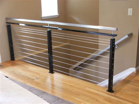 stainless steel banister rails modern interior stair railing modern stainless steel