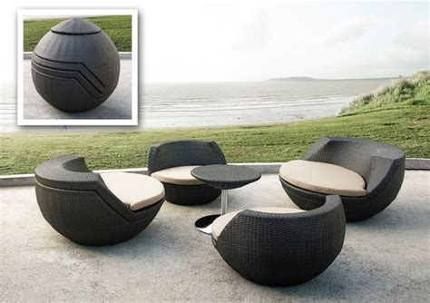 ovum modern brown 5 piece egg shaped patio set modern