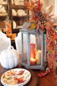 Decorating Ideas Using Lanterns Picture Of Fall Lantern Centerpiece
