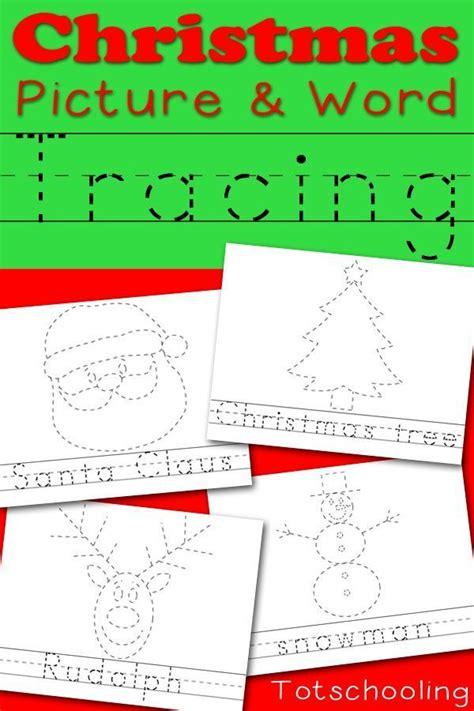 printable christmas games for kindergarten christmas picture word tracing printables christmas