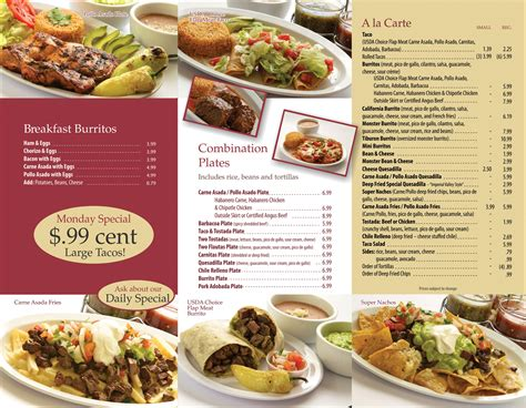 restaurant menu restaurant 1 menu pacific printing