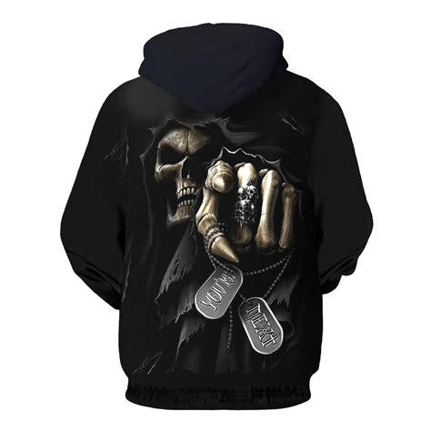 Sweater Hoodie The Puniser Best Clothing fashion hoodie sweatshirts womens hoodies sleeve skull punisher grim reaper 3d print