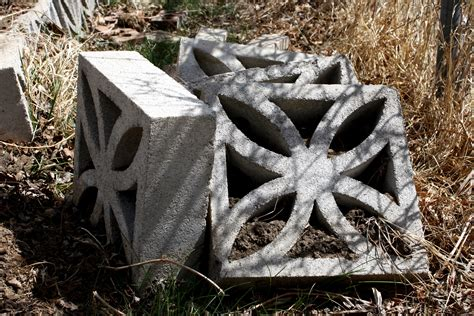 Decorative Cinder Blocks Piled In The Garden Picture Decorative Blocks For Garden Wall