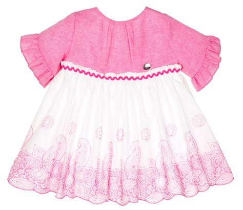 Pink White White Black Embroidery dolce petit pink white embroidered dress missbaby