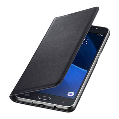 Leather Flipcover Samsung Note 5 official samsung galaxy j5 2016 flip wallet cover black