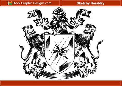 Designous 150 Free Vintage Vector Medieval Heraldry Graphics