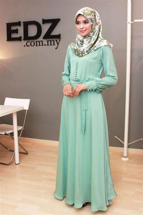 Omera Plain Flare Muslim Dress simple plain flare abaya make sophisticated look style