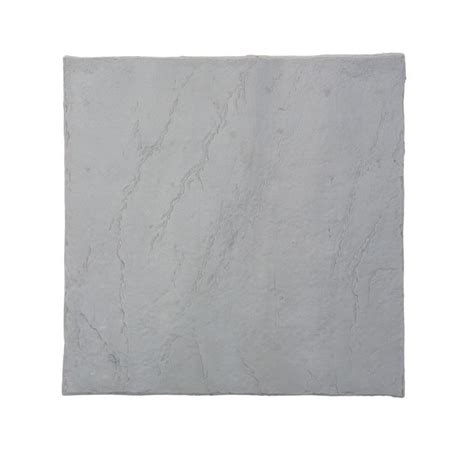 plastic patio pavers emsco 16 in x 16 in flat rock grey plastic resin