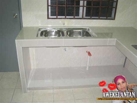 Kabinet Dapur Tanpa Table Top aku awek kelantan kitchen cabinet renovation