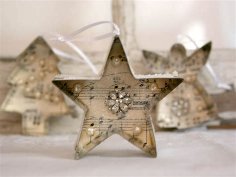 christmas ornament cookie cutter vintage sheet music jewelry