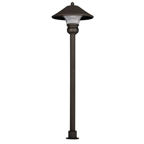 Outdoor Path Lighting Low Voltage Hton Bay Low Voltage Bronze Outdoor Integrated Led Path Light Iwv1501l 2 The Home Depot