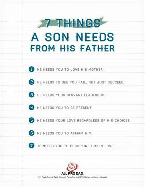 7 Things To About His Parts by 7 Things A Needs From His Family