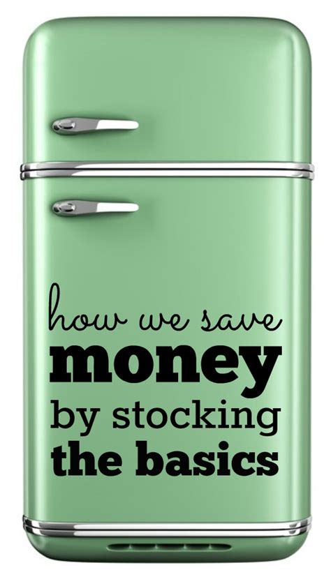 Pantry Basics by What S In Your Refrigerator Saving Money By