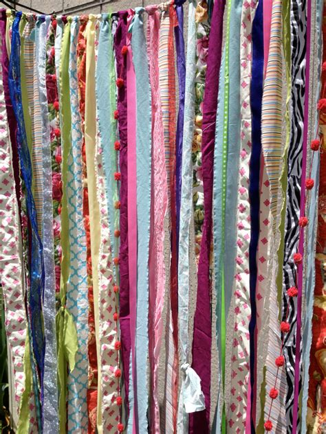 ribbon curtains boho gypsy fabric garland streamers curtain dorm teen
