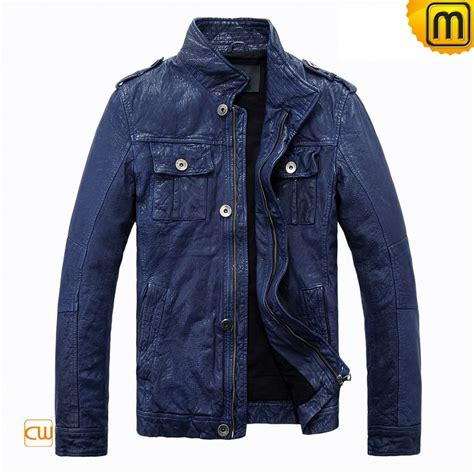 blue motorbike jacket blue motorcycle leather jacket cw813087