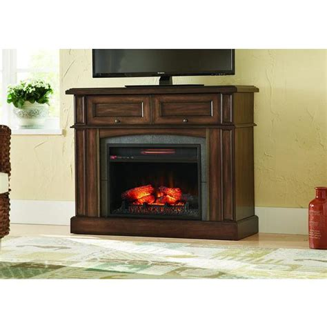 Brown Electric Fireplace by Home Decorators Collection Bellevue Park 42 In Mantel