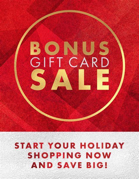 Gift Card Sale - gene juarez bonus gift card sale the bravern