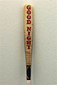 Mae Wall Stickers real wood baseball bat drawn by hand and painted in