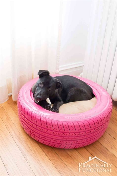puppy bed diy dog bed from a recycled tire