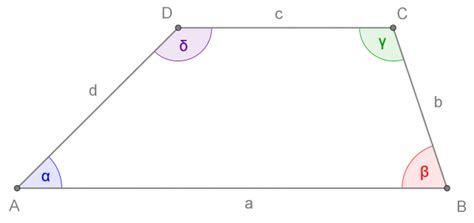 somma degli angoli interni di un trapezio quadrilateri openprof