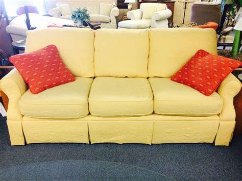 hickory hill sofa hickory hill yellow sofa delmarva furniture consignment